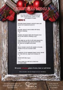 Christmas menus
