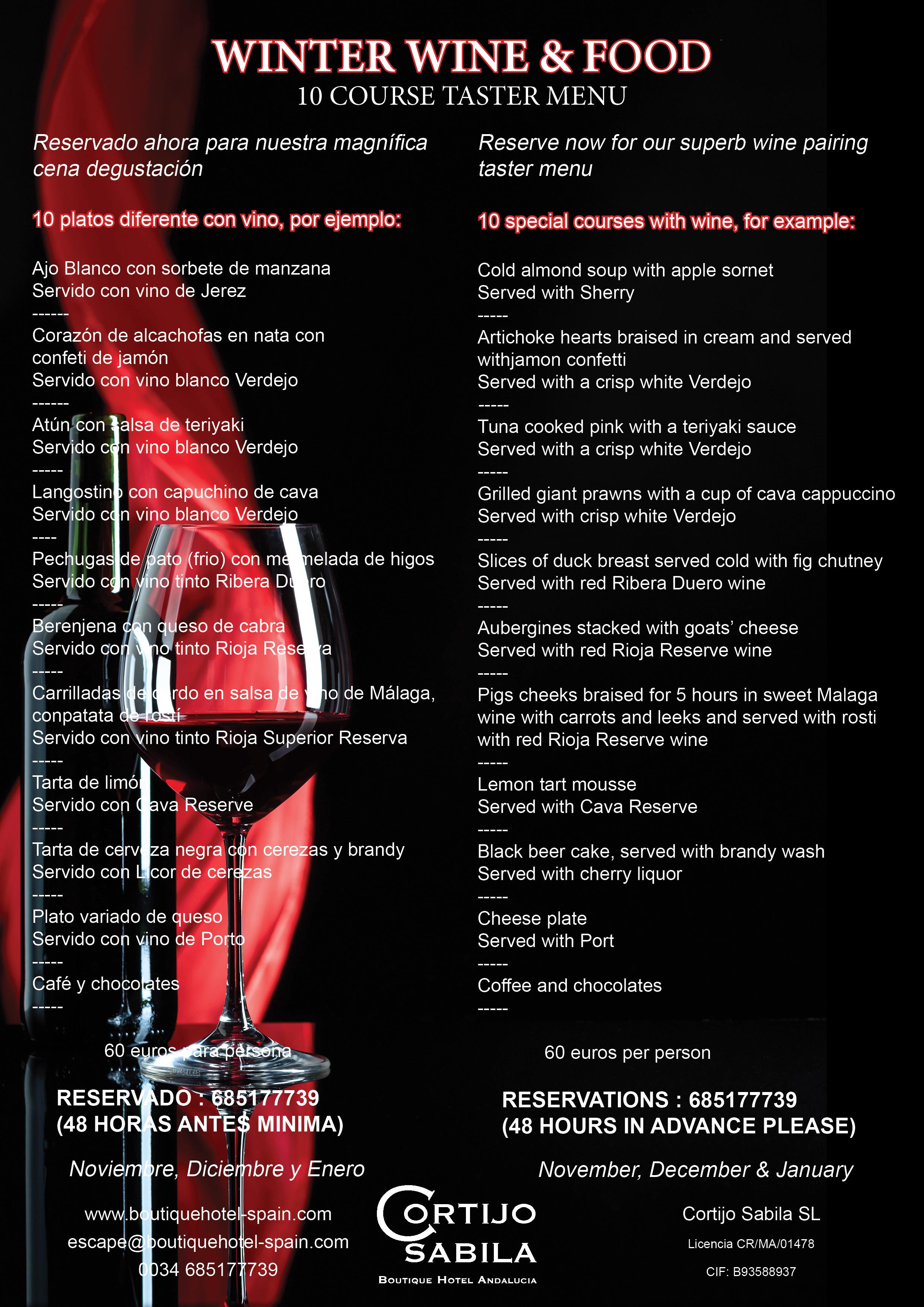 10 course tasting menu
