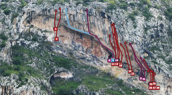 Chilam Balam climbing routes